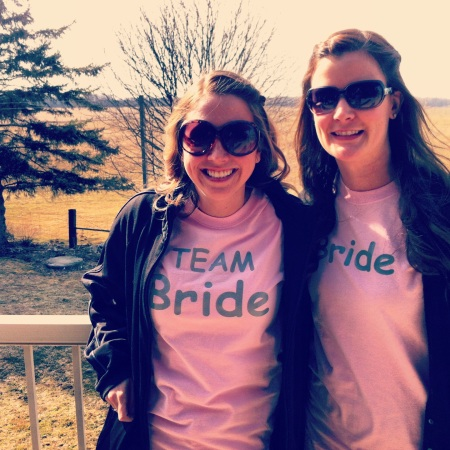 Proud to be team bride