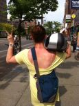 walking a ghetto blaster through Kensington Market, 1992 style